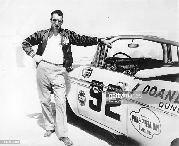 Herb Thomas drove his car to a third place finish in the NASCAR Convertible race on the Daytona BeachRoad Course