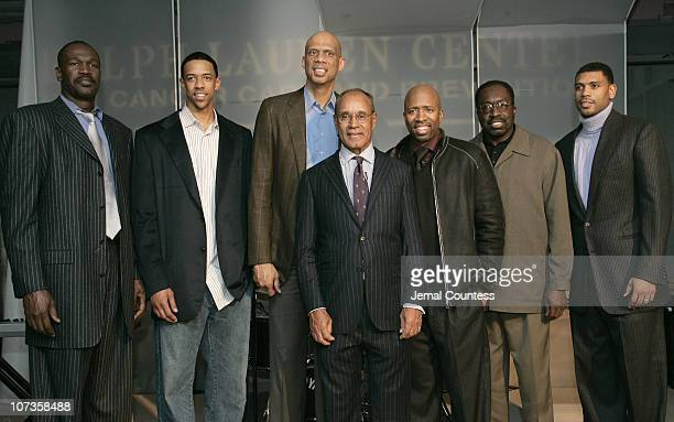 Herb Williams Channing Frye Kareem AbdulJabbar Dr Harold Freeman President and founder of the Ralph Lauren Center for Cancer Care and Prevention...