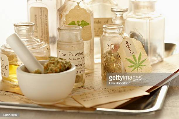 herbal medicine - marijuana herbal cannabis stock pictures, royalty-free photos & images