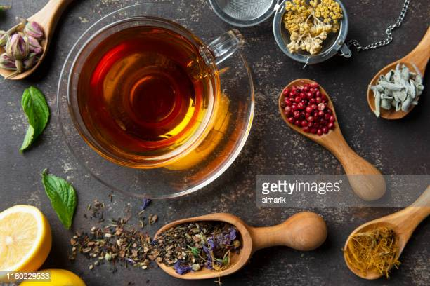 herbal tea - black tea stock pictures, royalty-free photos & images
