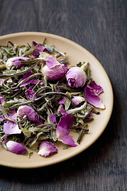Herbal tea pink flowers