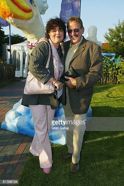 Herbert and Heike Koefer arrive at the restaurant variety show Pomp Duck and Circumstance on the premiere night September 2 2004 in Berlin Germany