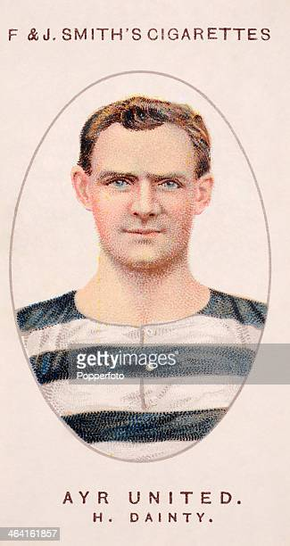 Herbert Dainty of Ayr United FC featured on a vintage cigarette card published in London circa 1917