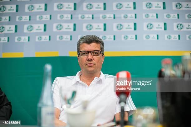 Herbert Fandel attends the DFB Press Talk at Sportcentrum KamenKaiserau on July 10 2015 in Kamen Germany