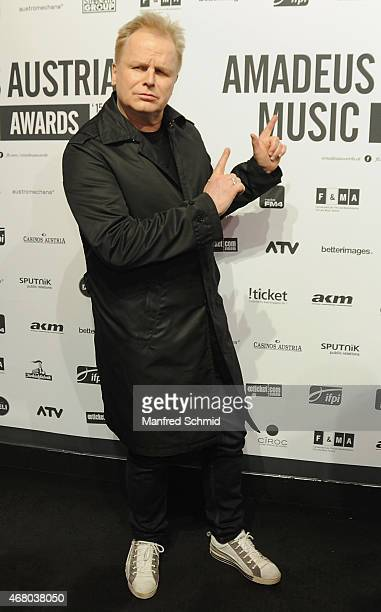 Herbert Groenemeyer poses for a photograph during the Amadeus Austrian Music Awards 2015 at Volkstheater on March 29 2015 in Vienna Austria