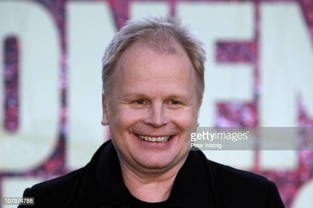 Herbert Groenemeyer smiles during a press conference for his 2011 tour at the EspritArena on December 07 2010 in Duesseldorf Germany