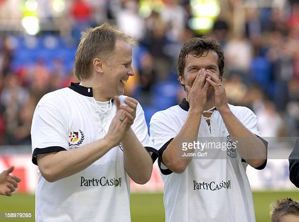 Herbert Gronemeyer Lothar Matthaus Take Part In The England V Germany The Legends Charity Football Match At The Madejski Stadium In Reading
