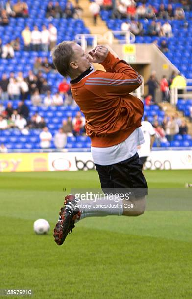 Herbert Gronemeyer Takes Part In The England V Germany The Legends Charity Football Match At The Madejski Stadium In Reading
