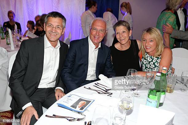 Herbert Hainer CEO Adidas AG and Franz Beckenbauer Kathrin Hainer and Heidi Beckenbauer during the Kaiser Cup 2016 gala on July 16 2016 in Bad...