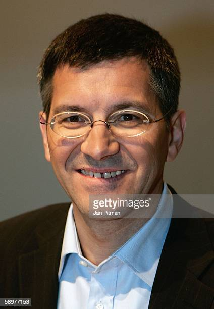 Herbert Hainer CEO of Adidas Group smiles during the annual press conference of Adidas on March 2 2006 in Herzogenaurach Germany The turnover of...