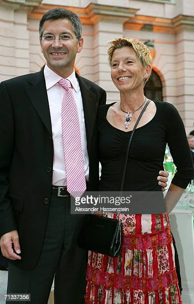 Herbert Hainer CEO of adidas poses with his wife Angelika Hainer during the Reception of the German Football Federation for the FIFA World Cup 2006...
