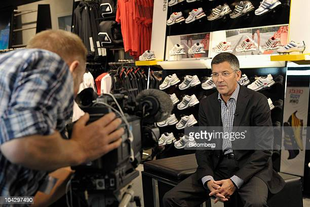 Herbert Hainer chief executive officer of Adidas AG prepares for an interview at the company's headquarters in Herzogenaurach Germany on Monday Sept...
