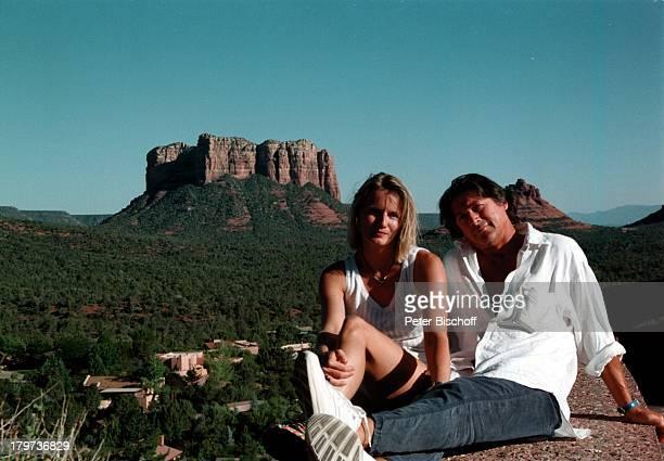 Herbert Herrmann mit Ehefrau Karin am OakCreek Canyon Arizona/Amerika Urlaub