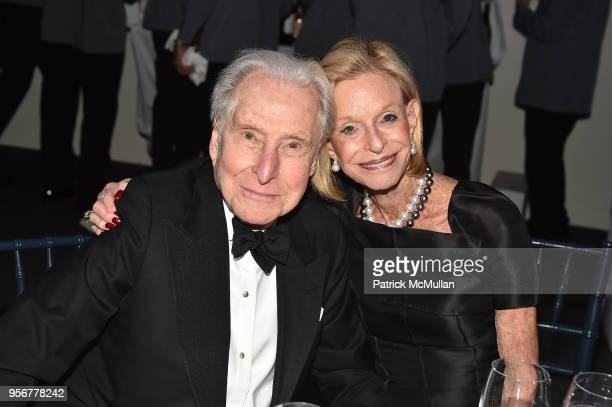 Herbert Kasper and Linda Lindenbaum attend Alzheimer's Drug Discovery Foundation 12th Annual Connoisseur's Dinner at Sotheby's on May 3 2018 in New...
