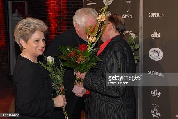 Herbert Köfer Dagmar Frederic Ehemann Dr Klaus Lenk Feier zum 90 Geburtstag von H K F E R Ullsteinhaus Berlin Deutschland Europa Party...