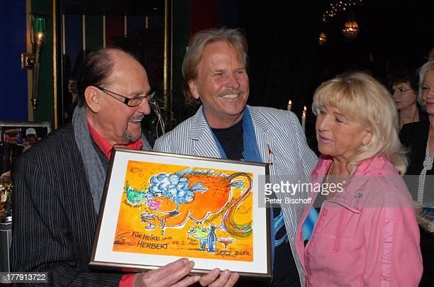Herbert Köfer Frank Zander Ehefrau Evelyn Feier zum 90 Geburtstag von H K F E R Amber Suite im Ullsteinhaus Berlin Deutschland Europa Party...