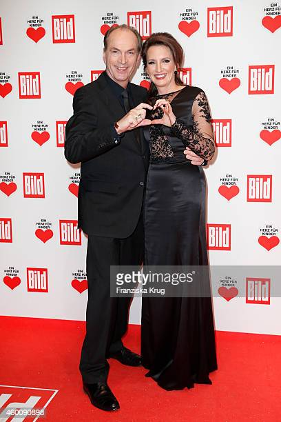 Herbert Knaup and Christiane Knaup attend the Ein Herz Fuer Kinder Gala 2014 Red Carpet Arrivals on December 6 2014 in Berlin Germany