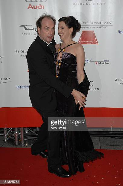 Herbert Knaup and Christiane Knaup during Deutscher Filmball 2007 Red Carpet at Hotel Bayerischer Hof in Munich Bayern Germany
