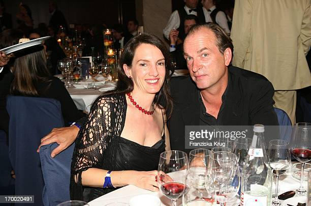 Herbert Knaup and friend Christiane Lehrmann at Dvd Night 2005 The Arabella Sheraton in Munich