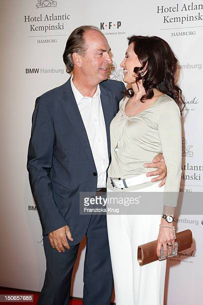 Herbert Knaup and hin wife Christiane Knaupattend the Atlantic Hotel reopening summer party celebration on August 23 2012 in Hamburg Germany