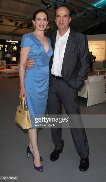 Herbert Knaup and his wife Christiane attend the 'Ramirez Fashion Show' during the MercedesBenz Fashion Week S/S 2010 at Bebelplatz on July 1 2009 in...