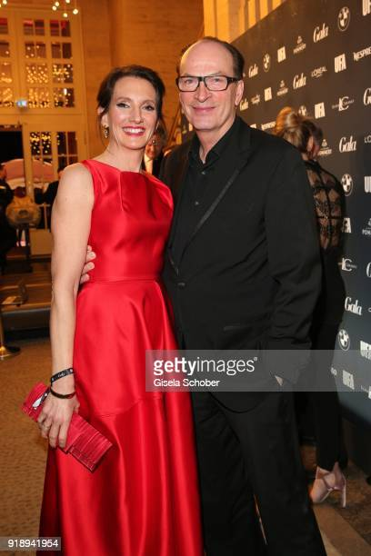 Herbert Knaup and his wife Christiane Lehrmann during the Berlin Opening Night by GALA and UFA Fiction at Das Stue on February 15 2018 in Berlin...