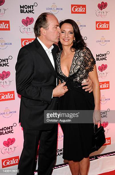 Herbert Knaup and wife Christiane attend honouring ceremony of Couple of the year at Hotel Louis C Jacob on April 23 2012 in Hamburg Germany