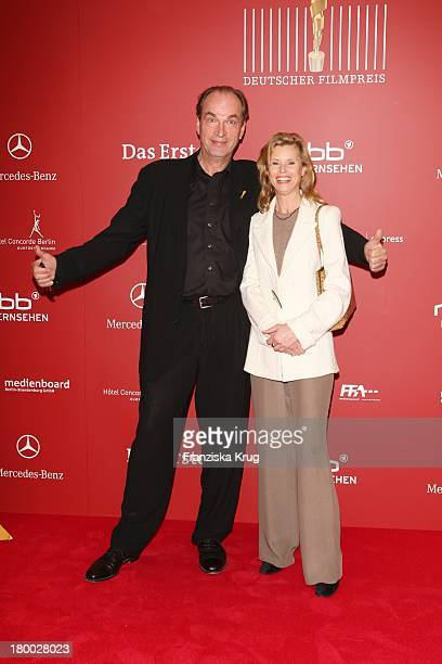 """Herbert Knaup Und Leslie Malton Bei Der Nominierungsveranstaltung Zum """"Deutschen Filmpreis"""" Im Hotel Concorde In Berlin Am 110408 ."""