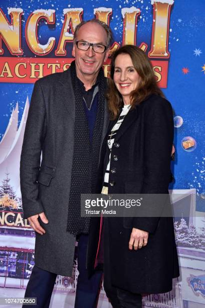 Herbert Knaup with wife Christiane Knaup attend the 15th Roncalli christmas circus premiere at Tempodrom on December 22 2018 in Berlin Germany