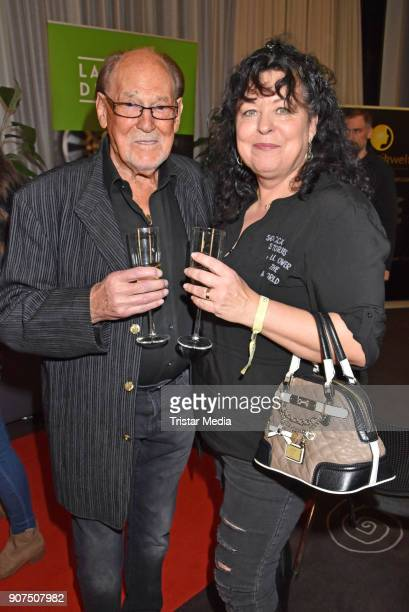 Herbert Koefer and Heike Knochee during the Public Viewing Of the TV Show 'Ich bin ein Star Holt mich hier raus' on January 19 2018 in Berlin Germany