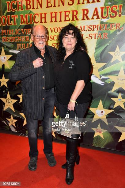 Herbert Koefer and Heike Knochee during the Public Viewing Of the TV Show 'Ich bin ein Star - Holt mich hier raus!' on January 19, 2018 in Berlin,...