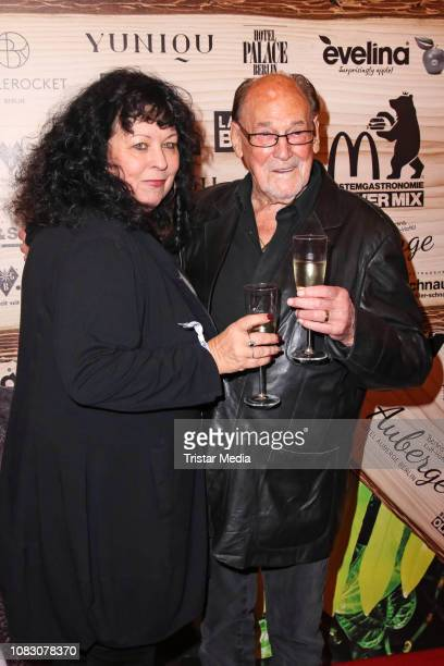 Herbert Koefer and his wife Heike Knochee attend the Julian FM Stoeckel Public Viewing Party For 'Ich bin ein Star Holt mich hier raus' at Hotel...