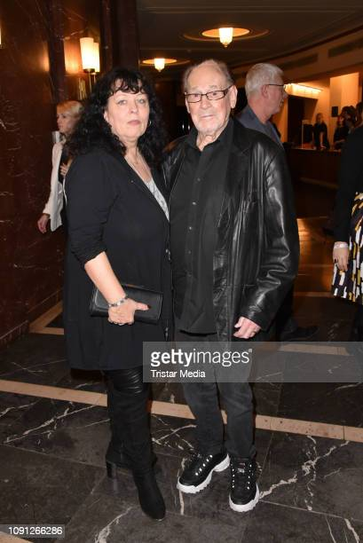 Herbert Koefer and his wife Heike Knochee during the BZ Kulturpreis 2019 at Volksbuehne on January 29 2019 in Berlin Germany