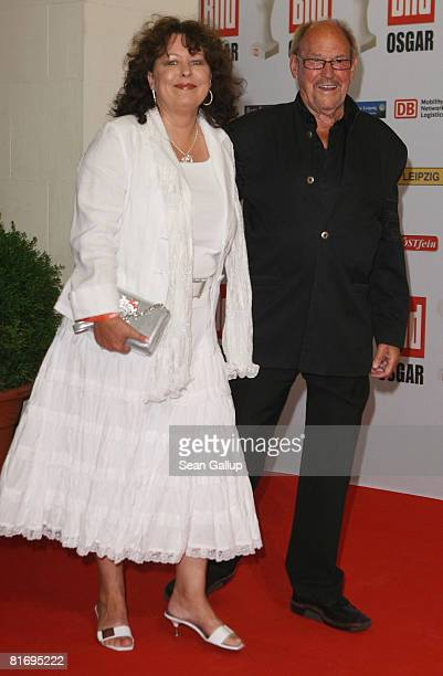Herbert Koefer and his wife Heike Koefer attend the Bild OSGAR Award at City Hall on June 24 2008 in Leipzig Germany