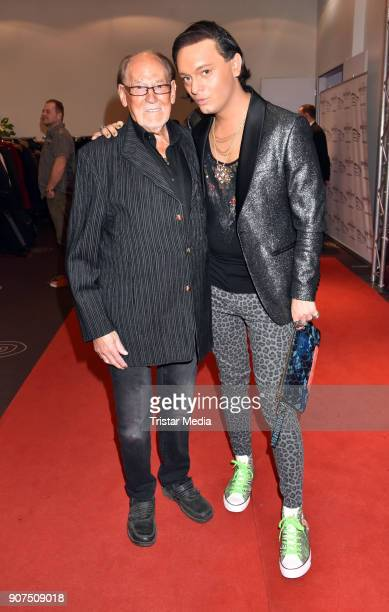 Herbert Koefer and Julian F M Stoeckel during the Public Viewing Of the TV Show 'Ich bin ein Star Holt mich hier raus' on January 19 2018 in Berlin...