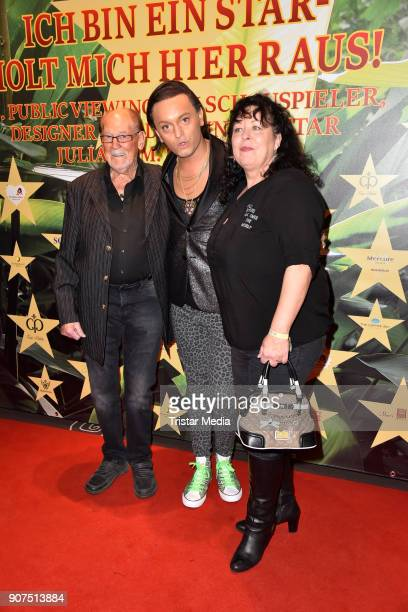 Herbert Koefer Julian F M Stoeckel and Heike Knochee during the Public Viewing Of the TV Show 'Ich bin ein Star Holt mich hier raus' on January 19...