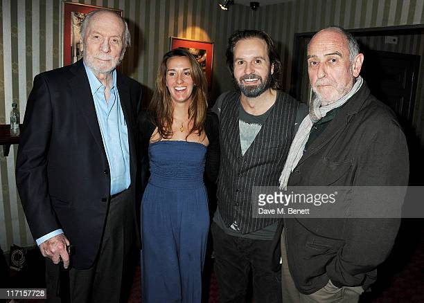 Herbert Kretzmer Sarah Boe Alfie Boe and ClaudeMichel Schonberg attend a postshow drinks reception following Matt Lucas and Alfie Boe's first...