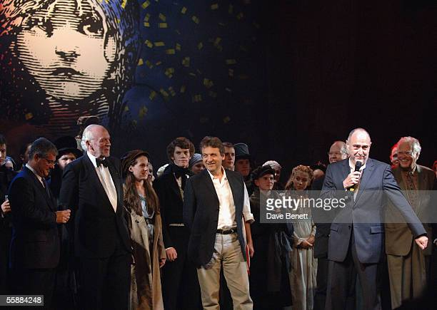 Herbert Kretzmer Sir Cameron Mackintosh ClaudeMichelle Schonberg Alain Boublil and John Caird at the '20th Anniversary Celebration of Les Miserables'...