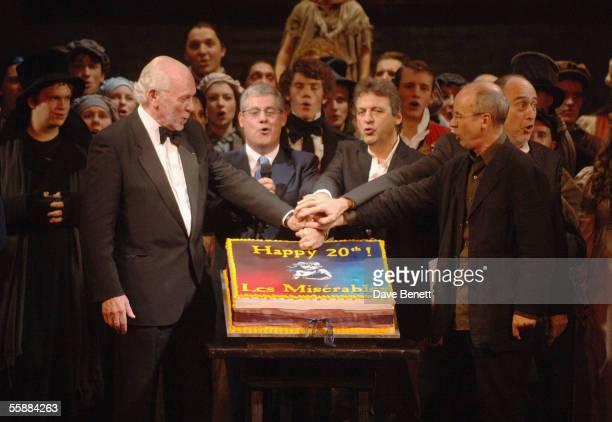 Herbert Kretzmer Sir Cameron Mackintosh ClaudeMichelle Schonberg Alain Boublil and John Caird at the 20th Anniversary Celebration of Les Miserables...