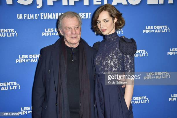 Herbert Leonard and Louise Bourgoin attend the 'Les Dents Pipi Et Au Lit' Paris Premiere at UGC Cine Cite des Halles on March 27 2018 in Paris France