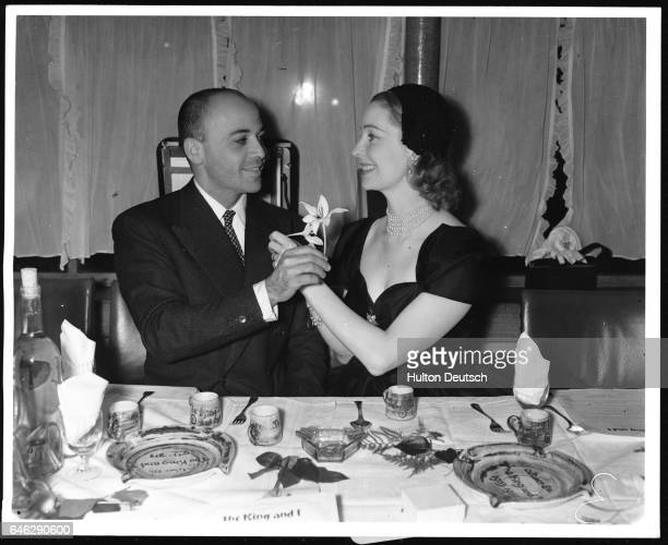 Herbert Lom and Valerie celebrate the anniversary of the King and I 1954