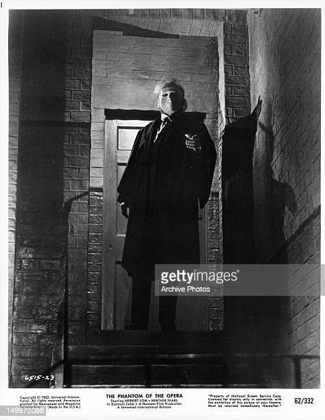 Herbert Lom at the top of stairwell in a scene from the film 'The Phantom Of The Opera' 1962
