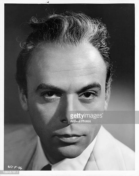 Herbert Lom publicity portrait for the film 'The Love Lottery' 1954