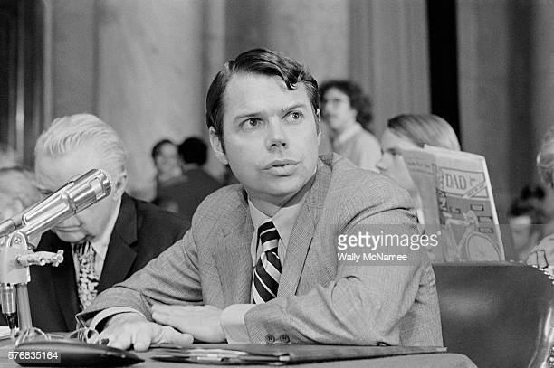 Herbert Porter former employee of the Committee to Reelect the President testifying before the Senate Watergate committee