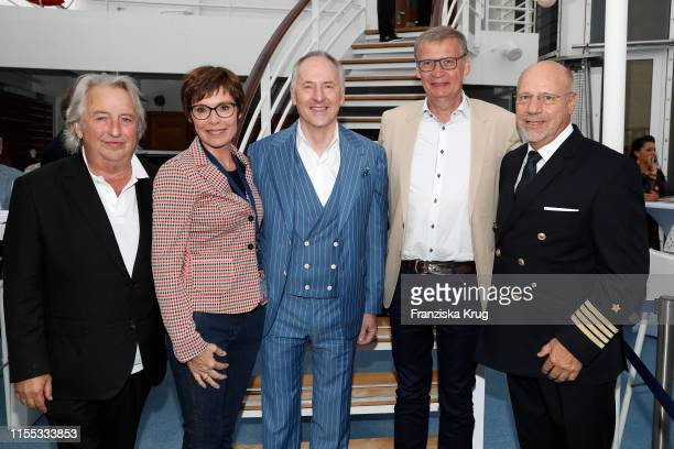 Herbert Seckler Dorothea SihlerJauch Karl J Pojer Guenther Jauch and Olaf Hartmann during the MS Europa meets Sansibar cruise on July 12 2019 in Sylt...