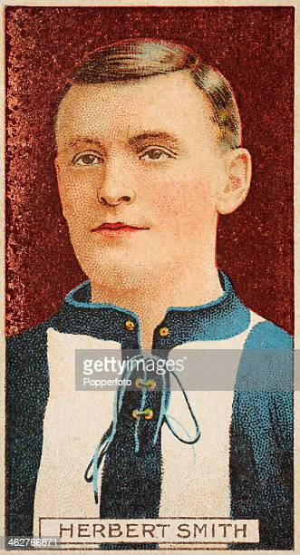 Herbert Smith captain of Reading FC featured on a vintage cigarette card published in London circa 1908