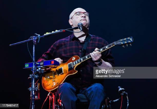 Herbert Viana of Os Paralamas do Sucesso performs on stage during Rock in Rio 2019 - Day 7 at Cidade do Rock on October 06, 2019 in Rio de Janeiro,...