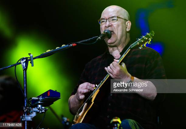Herbert Viana of Paralams do Sucesso performs on stage during Rock in Rio 2019 - Day 7 at Cidade do Rock on October 06, 2019 in Rio de Janeiro,...