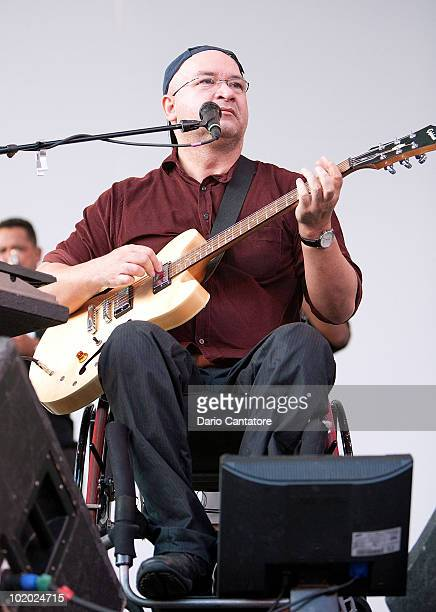 Herbert Vianna of Os Paralamas do Sucesso performs at the 8th Annual Cine Fest Petrobras Brasil at Central Park SummerStage on June 12, 2010 in New...