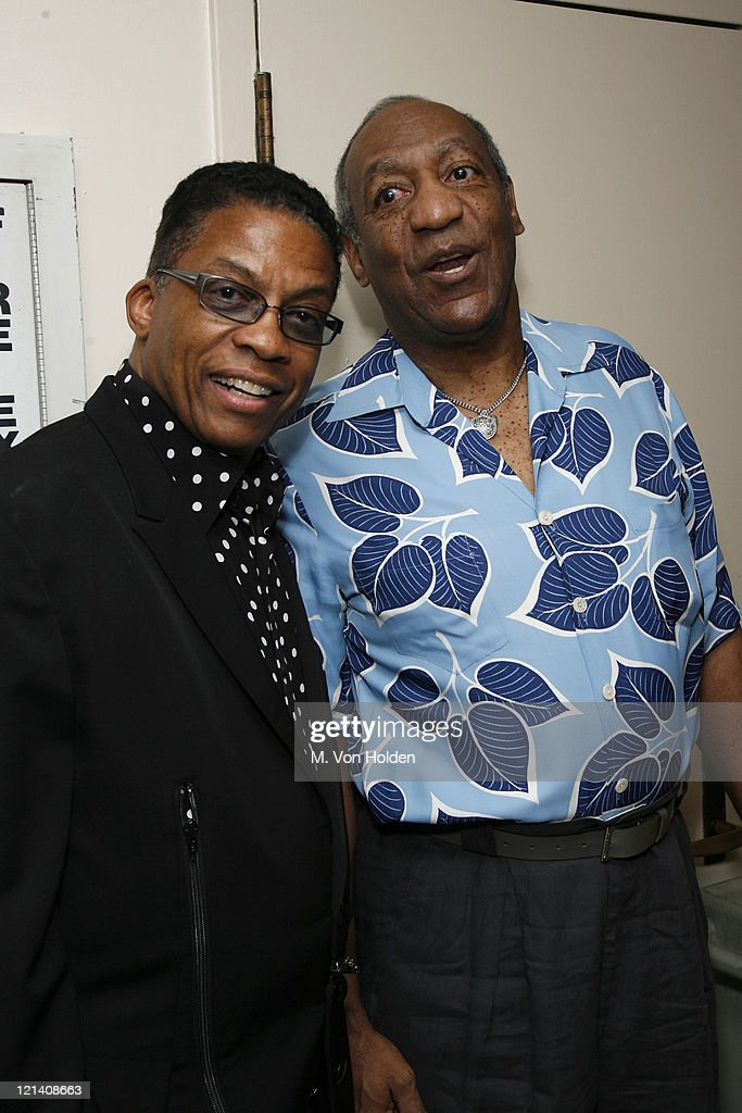 Herbie Hancock and Bill Cosby during The Thelonious Monk Institute of Jazz Special VIP Reception in Advance of 'Herbie's World' to Benefit Monk Institute Jazz Programs at Weill Recital Hall, Carnegie Hall in New York, New York, United States.